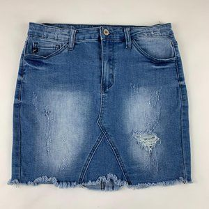 KanCan Distressed Denim Skirt 7 / 27